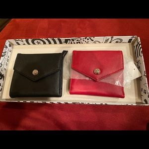 Nine West Red and Black Small Leather Wallets